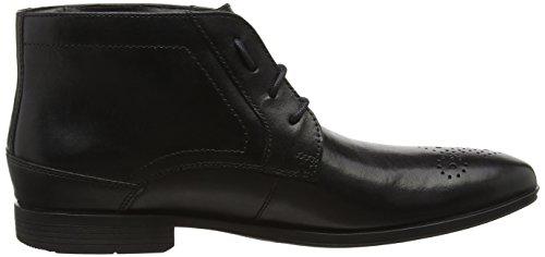 Rockport Style Connected Chukka, Bottes Classiques homme Noir - Noir (cuir noir)