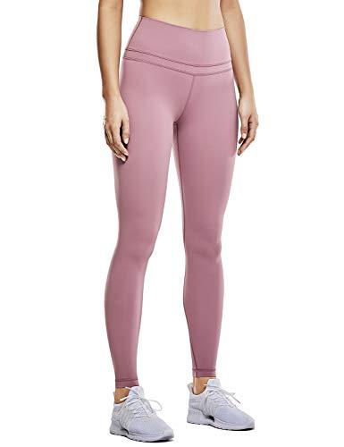 CRZ YOGA Damen Nackte Empfindung Hohe Taille Joggen Yoga Leggings mit Tasche-71cm Feige XXS(34)