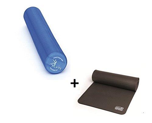 Débutants Lot de 2-SISSEL Pilates Roller Pro 90cm + Sissel Tapis de gymnastique (Anthracite)