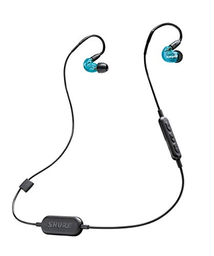 Shure SE215SPE-B-BT1-EFS Bluetooth In-Ear Kopfhörer mit passiver Geräuschunterdrückung für iOS & Android - Premium Ohrhörer mit warmem & detailreichem Klang - Special Edition: Blau - 3