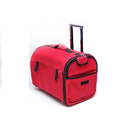 Reisekäfig Pet Bag Trolley Bag Verstärkung Tragetaschen Pet Trolley Gepäck Praktische Gasdurchlässigkeit, großer Raum 817 -