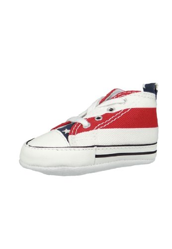 Converse Baby Schuhe First Star Stars and Bars red white - 20  (Sneakers Baby Converse)