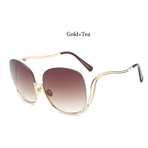MINGMOU Luxe Merk Half Frame Ronde Zonnebril Für Randloze Gradiënt Übergroße Brillen Für Damen Shades Clear Bril Eyewear Uv