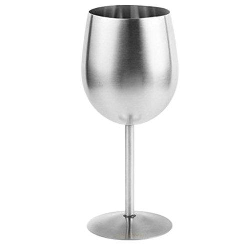 Sharplace Edelstahl Weinbecher - Silber, 80mmx180mm