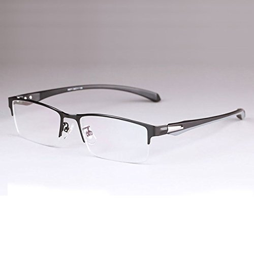 BuyWorld Men Titanium Alloy Eyeglasses Frame for Men Eyewear Flexible Temples Legs Ip Electroplating Alloy Material,Full Rim and Half Rim