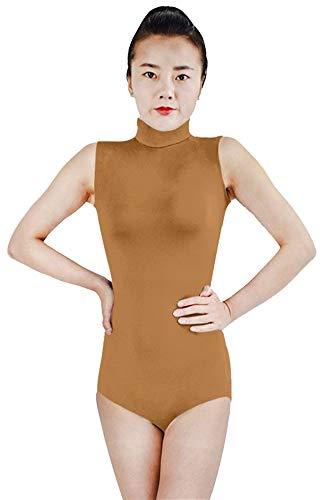 SK Studio Damen Leotard Body Elastisches Tanz-Body Fitness Ballett Trikot Gymnastik V-Ausschnitt Leibchen Dancewear Kostüme (Tanz Studio Kostüm)