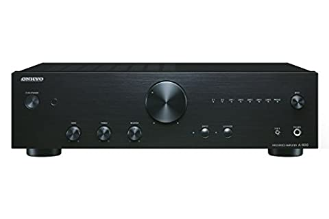 Onkyo A-9010 (B) Stereo-Vollverstärker (44 Watt/Kanal, 2 digital/5 analog Eingang, Phono-Eingang, Kopfhöreranschluss) schwarz