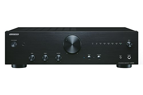 Onkyo A-9010 Amplificatore Stereo Audiophile con LED, GND, MM, WRAT, Nero/Antracite
