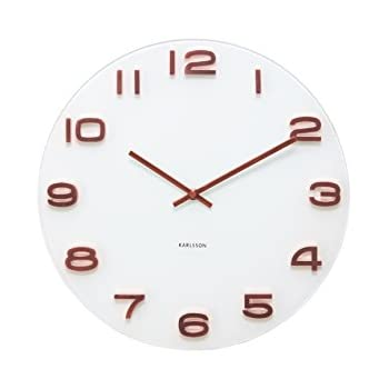 karlsson vintage wall clock white