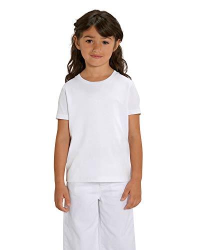 Hochwertiges unisex T-Shirt für Kinder aus 100% Bio-Baumwolle, T-Shirt/Grösse:110/116, T-Shirt/Farbe:Weiß -