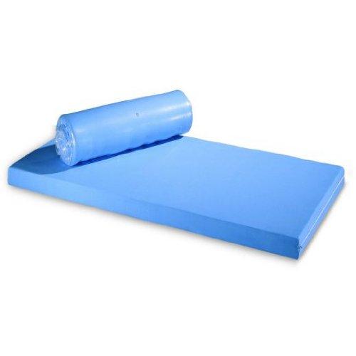 Standard-Pflegematratze RG35 90x200x12 cm, Rollmatratze mit blauem Bezug