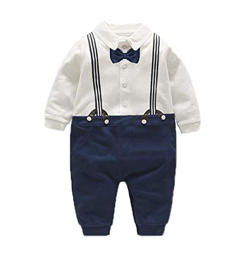 Famesale Baby Boy Tuxedo Kinderkleidung Anzug Fliege Krawatte Set Gentleman Urlaub Taufe Hochzeit Langarm Baby Kleinkind