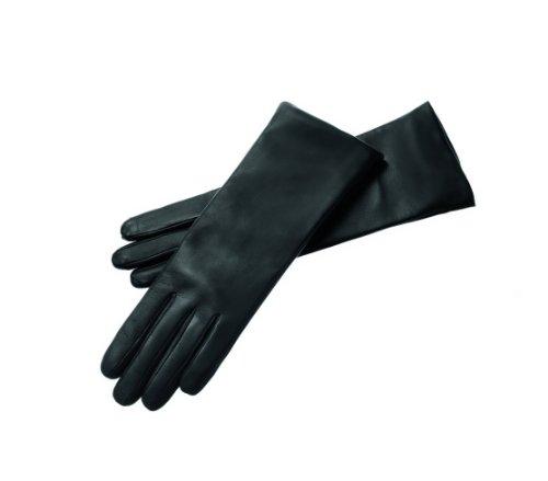Roeckl Damen Handschuh Edelklassiker Kaschmir (lang) 11011-327, Gr. 7.5, Schwarz (000)