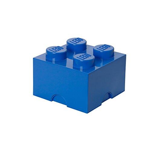 Plast Team 4003 - Caja en forma de bloque de lego 4, color azul [importado de Alemania]