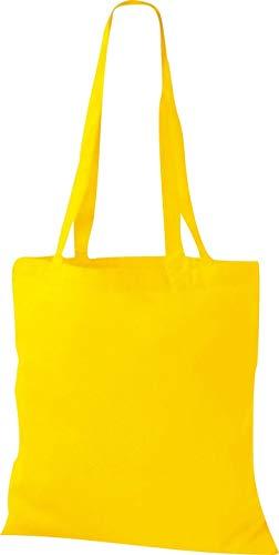 Stoffbeutel Baumwolltasche Beutel Shopper Umhängetasche viele Farbe Yellow