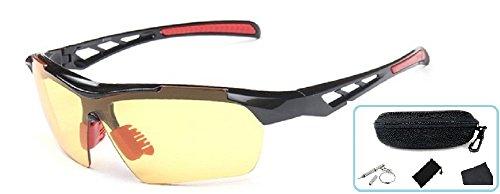 Embryform Sport Sonnenbrillen, Outdoor Sonnenbrillen für Männer Frauen Baseball Radsport Angeln (Kontaktlinsen Günstigsten)