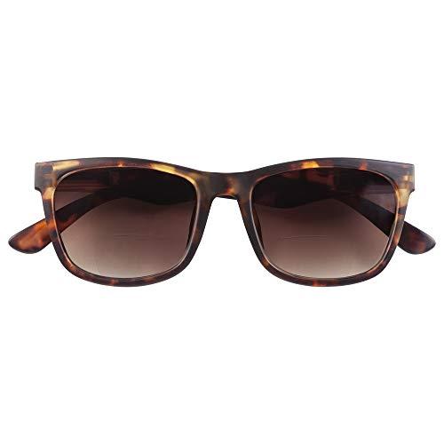 Babsee Retro Unisex Sonnenbrille für Damen & Herren mit 100% UVA/UVB Schutz Kategoriefilter 3 - Sunglass mit Leseteil - Edle vintage Sonnenbrille in schwarz oder braun