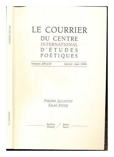 L'Unique et ses témoins : Session de rentrée du 1er cycle du Centre Sèvres, 18-29 septembre 1995