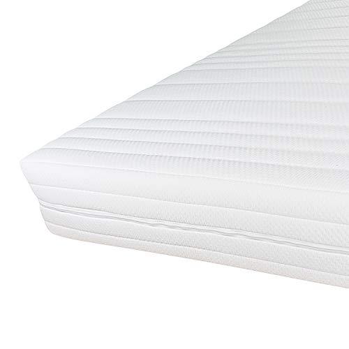 Hochwertiger Komfort Matratzenbezug 90x200cm 16cm Höhe - Doppeltuch mit Klimafaser versteppt - Allergiker geeignet - 60 Grad waschbar - 4-seitiger Reißverschluss - Bezug für Matratzen