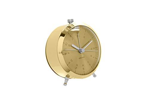 Karlsson Reloj Despertador De Boton Laton Chapado En Oro