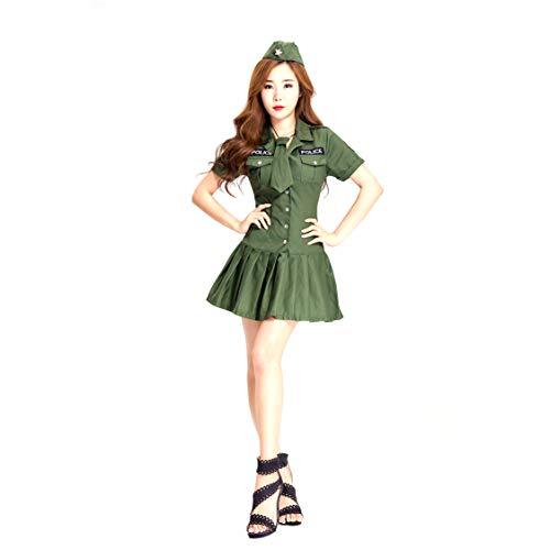 Costume di halloween cosplay adulto poliziotta tentazione uniforme abbigliamento femminile spia ufficiale uniforme gioco vestito bar ds costume di scena festa adatto per carnevali feste a tema,xl