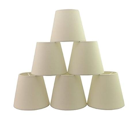 Doooitlight Set mit 6Clip-Lampenschirmen für Lampen, Leuchten, Kronleuchter weiß (Kronleuchter Mit Lampenschirm)