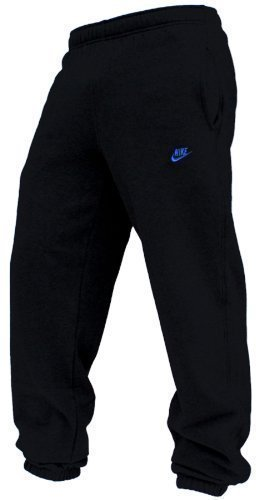 Nike Fleece Cuffed Herren Jogginghose, Schwarz/Blau, 415307-013, Größe XL