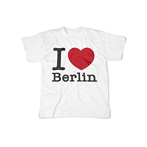 Herren T-Shirt mit I Love Berlin Aufdruck in White Gr. XXXXL I Love Berlin Design Top Shirt Herren Basic 100{e02b903a968a6d94d6afc31ef3e795edaa785aa3195783d7f5922c63b20ac514} Baumwolle Kurzarm