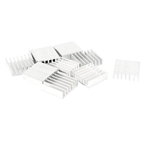 sourcingmap® 10 St Aluminum Kuehlkoerper Rippe 20mm x 20mm x 6mm fuer Leistungstransistor