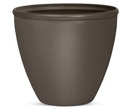 SUNCAST CORP - Planter, Bronze Resin, 16-In.