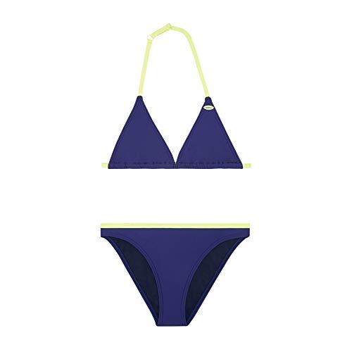 O'Neill Mädchen PG Essential Bikini Set, Blau All Over Print, 104 - Essential Triangle Bikini Top