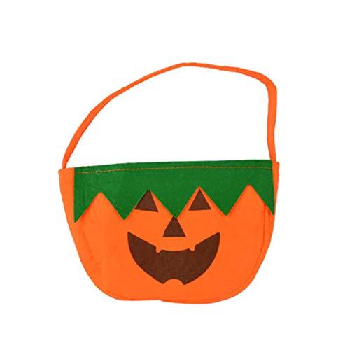 BESJDJD Kürbis-Bonbontüte Halloween Cartoon Kürbis Lustige Halloween Candy Trick Oder Behandeln Tuch (Trick Oder Behandeln Kostüm)
