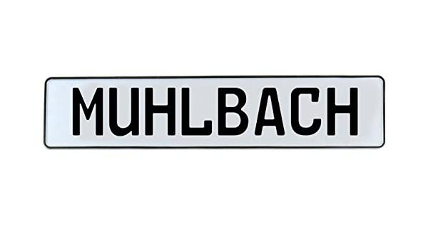 Muhlbach White Stamped Aluminum Street Sign Mancave Vintage Parts 715123 Wall Art