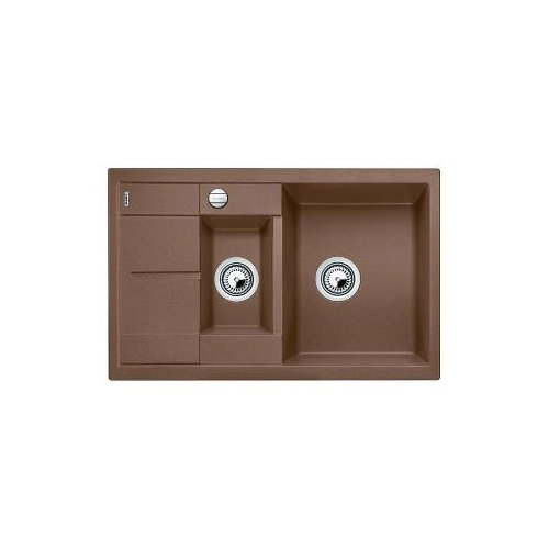 Blanco METRA 6 S Compact, Küchenspüle, Silgranit Puradur, muskat,  reversibel, 521891