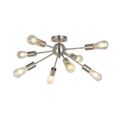 RUXMF- Moderner Sputnik Chandelier, Moderne Einfachheit 8-Light Semi Flush Mount Ceiling Light for Dining Room Bedroom Küche und Hallway Pendant Lighting -