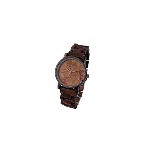 Holzkern Damen Analog Quarz Smart Watch Armbanduhr mit Holz Armband 0005