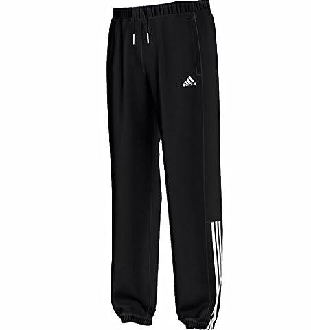 adidas Herren Sweathose Sporthose Essentials 3S Mid Light Sweat Pant ch schwarz, Größe:S