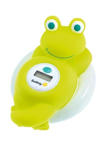 Safety 1st Digital-Badethermometer im lustigen Frosch-Design, schnelle und präzise Temperaturanzeige, einfach Bedienung, süßer Badebegleiter für Kinder, grün