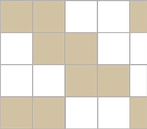 Stickerkoenig Stickers autocollants Décoration pour Carrelage 25x 20Salle de bain