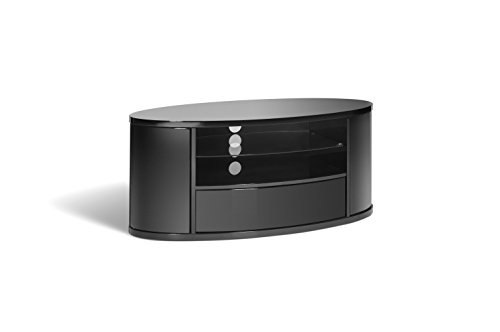 Techlink Ellipse EL3  Audio Visual Furniture Black with Black Glass/Doors