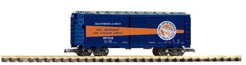 PIKO G SCALE MODEL TRAINS - B & O STEEL BOXCAR 467218 - 38828 by Piko