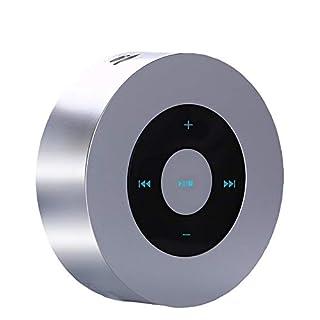 NAttnJf Bluetooth Lautsprecher, Tragbare Touch Control Bluetooth Wireless Outdoor-Audio-TF-Karte Mini-Lautsprecher Silber