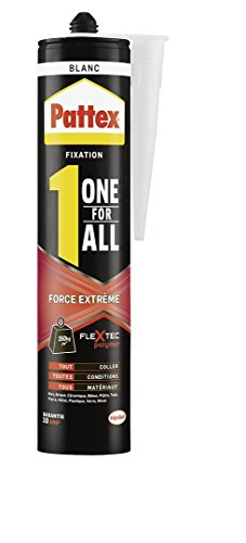 Pattex Colle de fixation One For All Force Extrême - 460 g - Blanc
