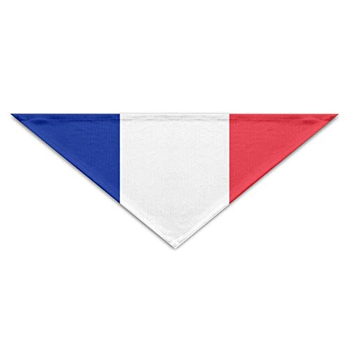 Sdltkhy Flag of France and Monaco Bandana Triangle Neckerchief Bibs Scarfs Accessories for Dogs & Cats -