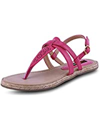 GET GLAMR Women's Pink Sandals