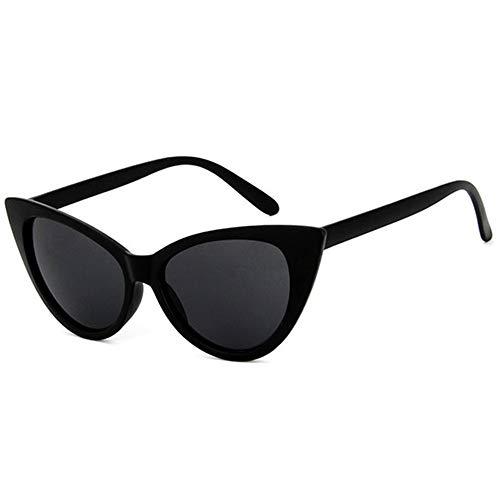 HUWAIYUNDONG Sonnenbrillen,Cat Eye Sunglasses Women Design Vintage Sun Glasses Men Outdoor Goggles Two Sizes (XL) Matte Black