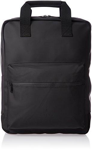 Rains scout bag, zaino unisex adulto, 31.0x 40.0x 11.0cm (w x h x l) nero size: 31.0x40.0x11.0 cm (w x h x l)