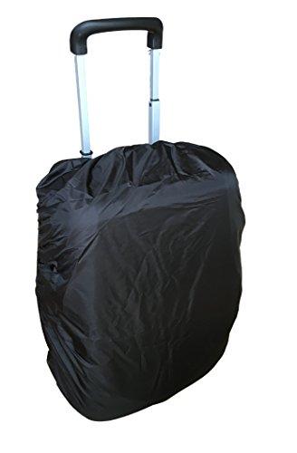 Regenschutz Abdeckung REGENHÜLLE für Gepäckkoffer / Reisegebäck – Wasserabweisende Abdeckung – Dehnbar – passend für Koffer & Gepäckkoffer Schutzhülle– faltbar & platzsparend (1 Stück) (Schwarz) - Abdeckung Dehnbare Koffer