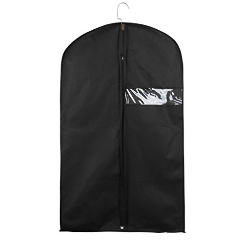 Carrier Schwarz Kleidersäcke (sourcingmap® 1Stk. Anzugsack Kleiderhülle Kleidungsstück Travel Anzughülle Aufhänger Schwarz DE de)