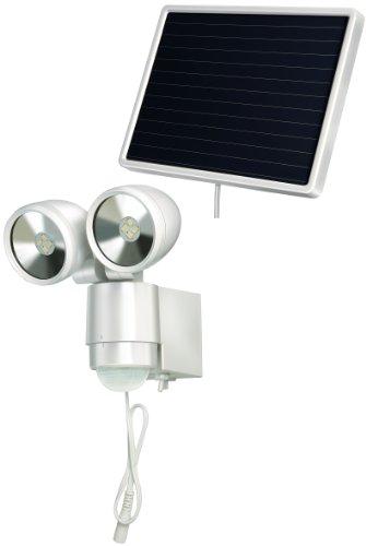 Brennenstuhl LED-Spot SOL / LED-Leuchte für außen mit Bewegungsmelder und Solar-Panel (IP44, inkl. Akku, 8 x 0,5W) Farbe: weiß